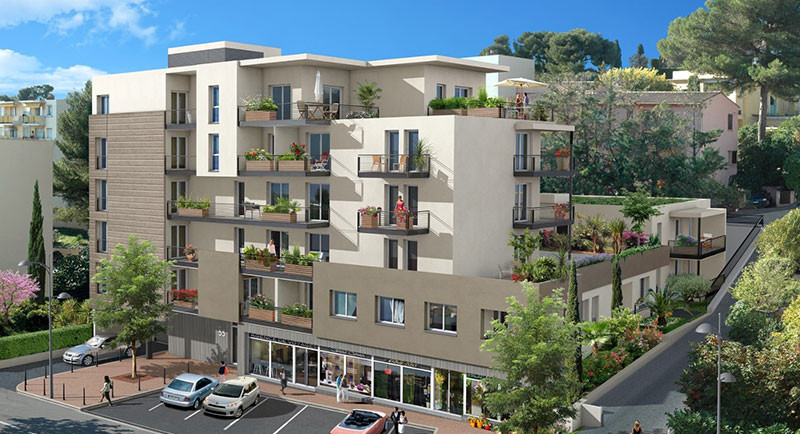 Achat appartement Cannet, Cannes, France, centre ville, calme, terrasses, residence