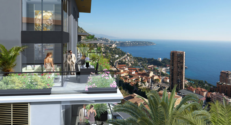 Buy sell apartment France Monaco Beausoleil sea view