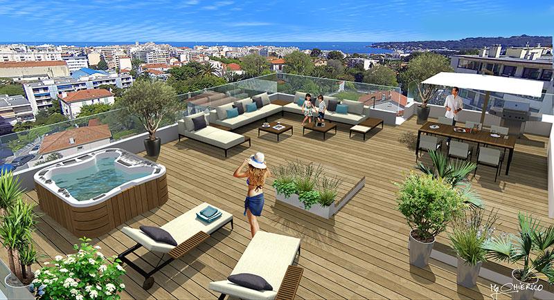 Riviera r sidences antibes bel appartement au coeur du for Achat maison antibes juan les pins