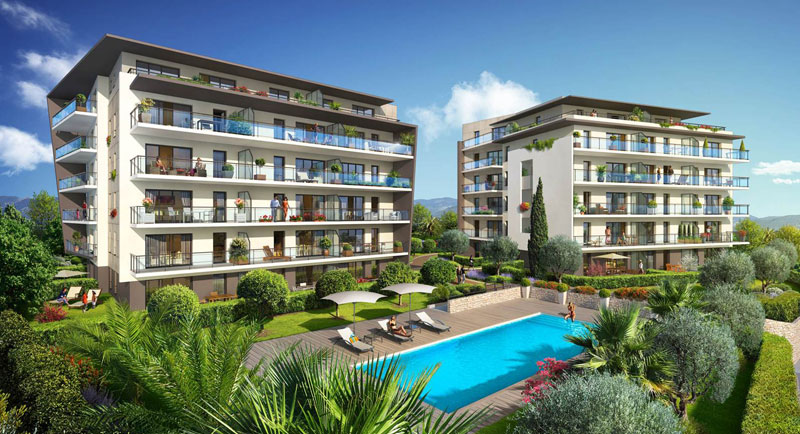 Riviera r sidences antibes bel appartement au coeur d for Achat maison antibes juan les pins