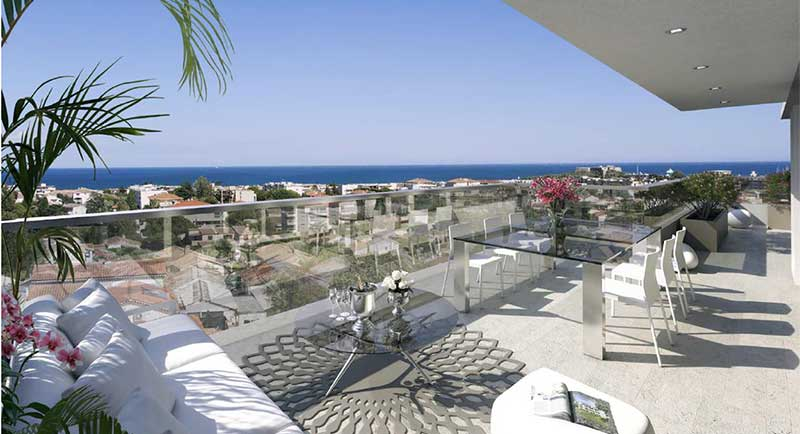 Riviera r sidences antibes appartement au calme avec for Achat maison antibes juan les pins