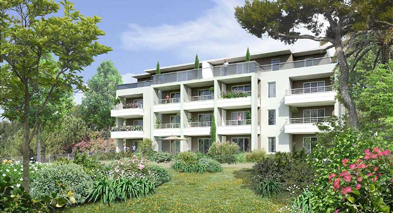 Riviera r sidences antibes appartement au calme avec for Achat maison france