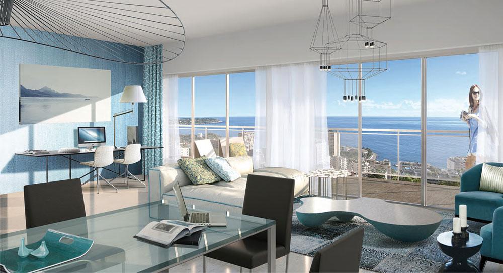 Riviera r sidences beausoleil bel appartement dominant for Acheter maison monaco