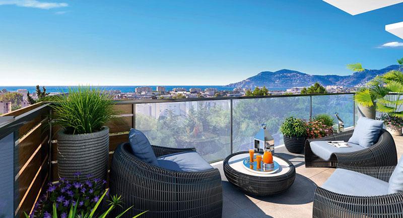Riviera r sidences cannes bel appartement avec - Decoration eclectique appartement centre ville floride ...