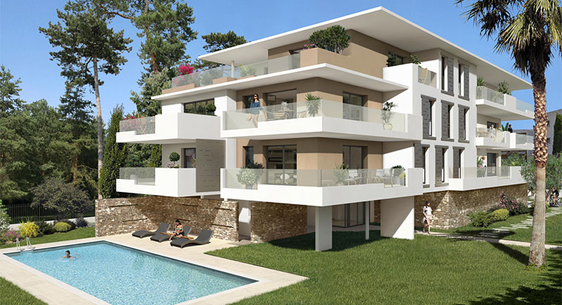 Riviera r sidences le cannet bel appartement au calme for Vente et achat appartement