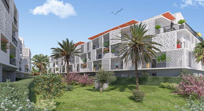 Riviera r sidences cannes appartement au calme avec for Acheter un appartement en construction