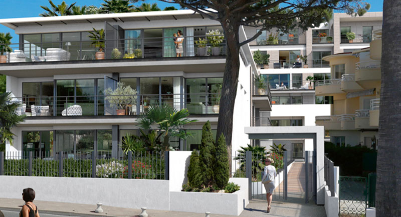 Riviera r sidences juan les pins bel apartment face for Achat maison antibes juan les pins