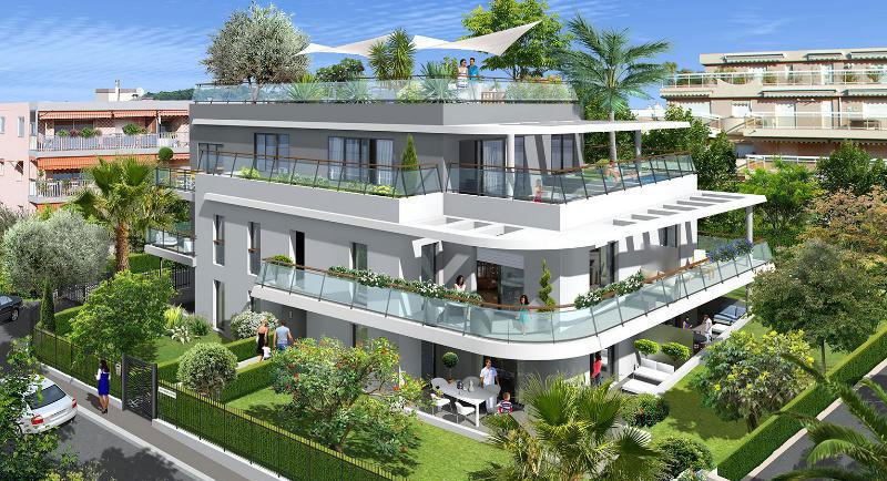 Riviera r sidences juan les pins appartement 50m de - La contemporaine residence de plage las palmeras ...