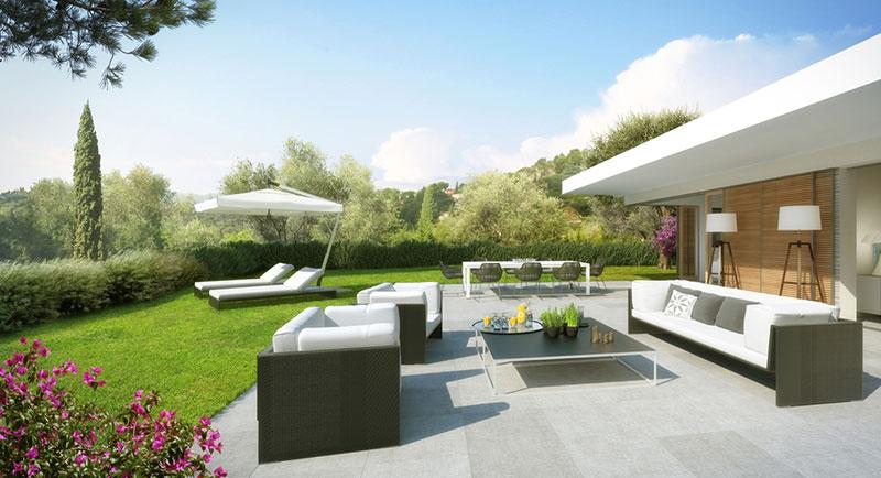 Riviera r sidences nice une l gante et unique for Appartement avec jardin nice