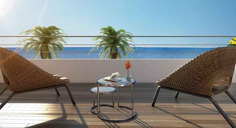 Riviera r sidences villeneuve loubet appartement avec - La contemporaine residence de plage las palmeras ...
