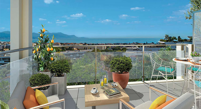 Antibes - Beautiful apartment with a breathtaking sea view in a peaceful environment…