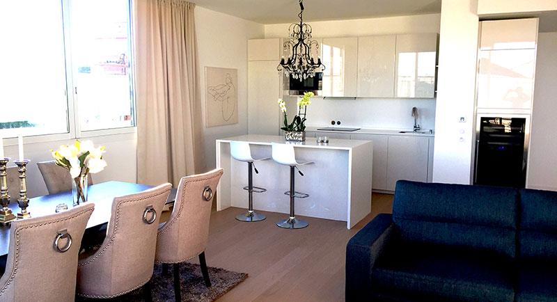 Жуан-ле-Пен - Хорошая квартира в 50 м от пляжа, в жилом районе Bijou Plage