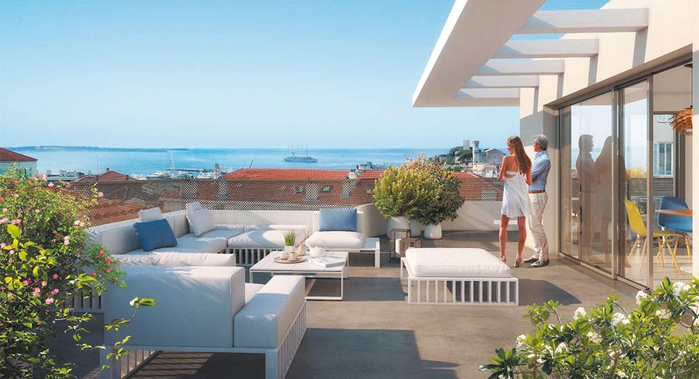 Cannes - Flotte lejligheder med terrasser i et roligt område og alligevel tæt på byens centrum