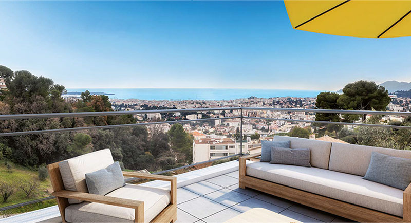 Le Cannet - Beautiful apartment with large terrace and swimming pool...