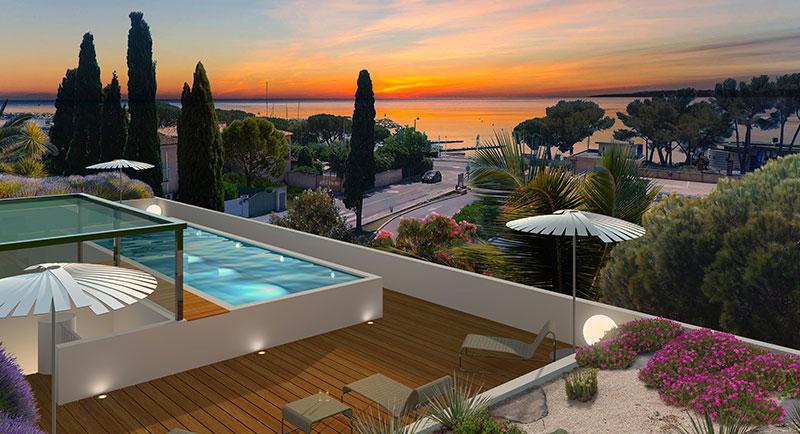 Les Issambres - Piękne mieszkanie z widokiem na morze, w rezydencji z basenem, 200m od morza