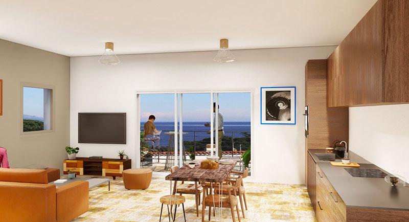 Les Issambres - Bel appartement avec vue mer, dans une résidence avec piscine, 200m de la mer
