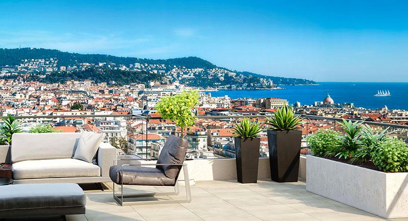 Nice - Bel appartement avec une magnifique vue mer