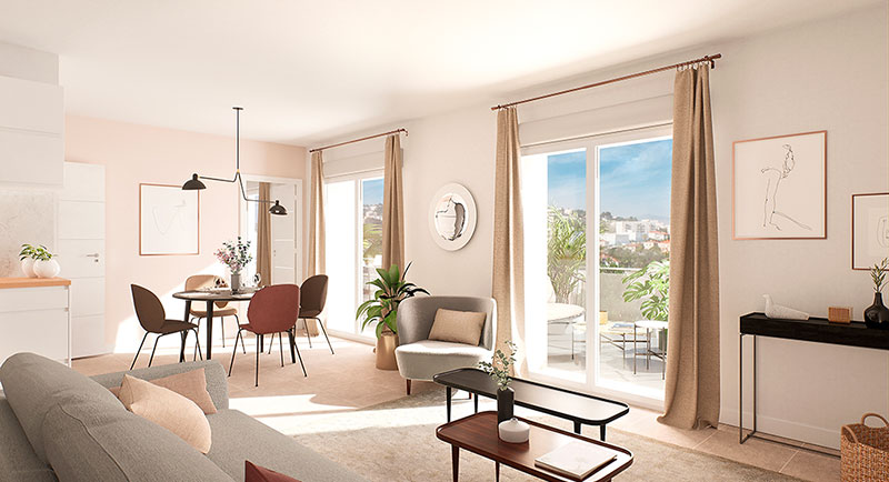 Nice - Beautiful apartment with terrace, in the eco-district of the future