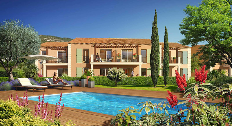 Plan de la Tour - In the bay of Saint Tropez... Authentic stone residence of modern apartments