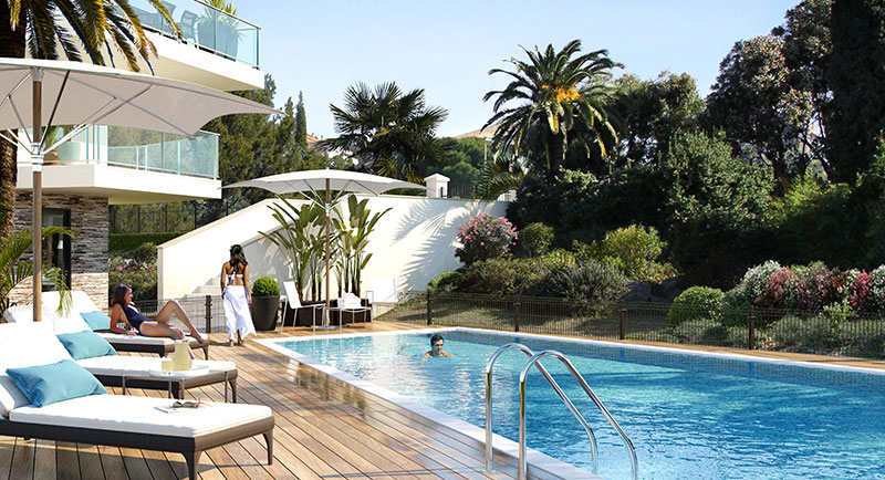 Buy, sell apartment, real estate agency, France, Saint Tropez, Cavalaire, city center, beach, swimming pool