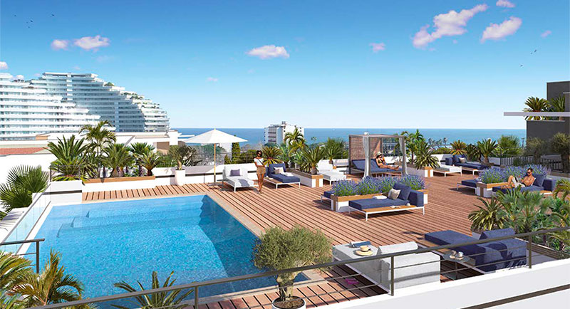 Villeneuve Loubet - Nice apartment with terrace, a few steps from the sea and the city center...